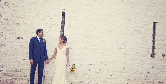 A Humanist Wedding: Natalie and Eyad at The Barn at Brynich, Brecon