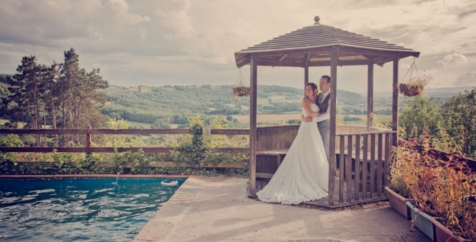 Natalie & Stuart get married at Caer Llan, Monmouth
