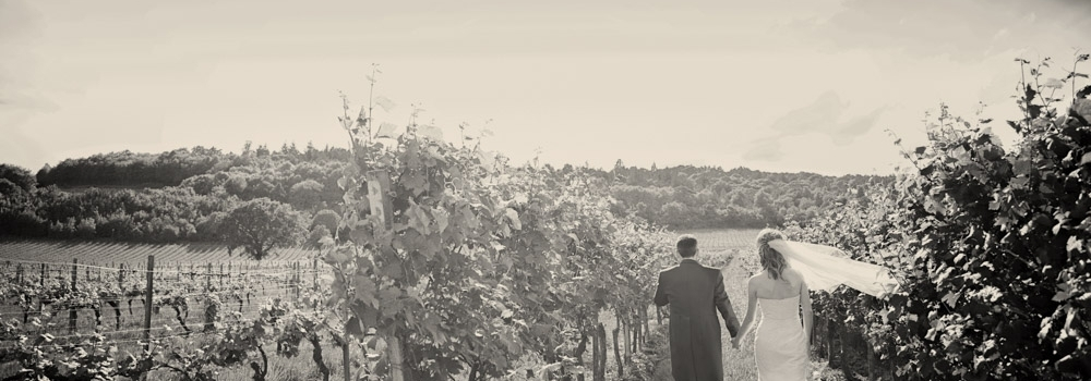 Sarah & Tom get married at Denbies Wine Estate in Surrey