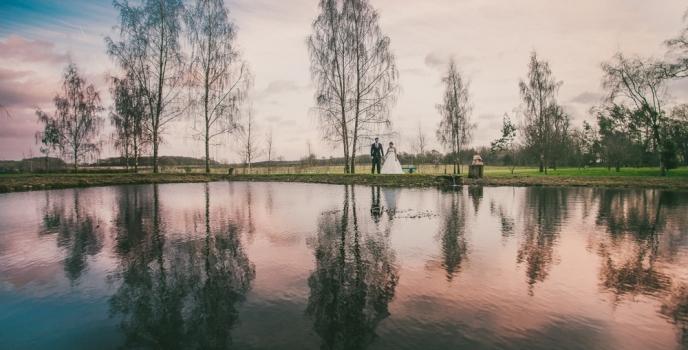 Holly and Shaun get married at The Matara Centre, Tetbury