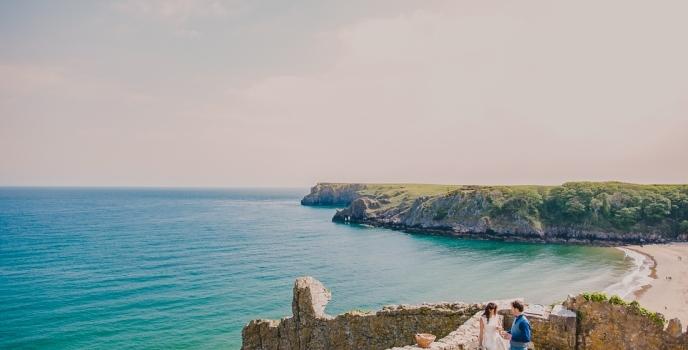 Beach wedding in Wales